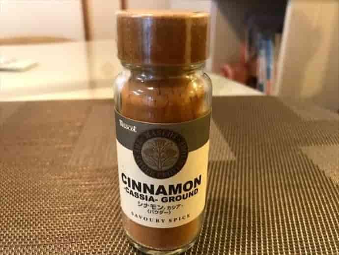 蜂蜜とシナモンを加えて完成